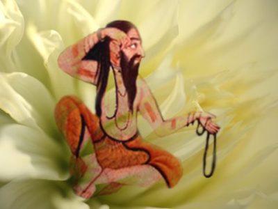 D'après le thème de la méditation, qui mène le sage à l'illumination,spiritualité,Inde ancienne.(Marsailly/Blogostelle)