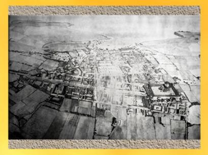 D'après une vue supposée de la cité portuaire de Noviogorum, Barzan, Charente maritime, Gaule Romaine, France. (Marsailly/Blogostelle)