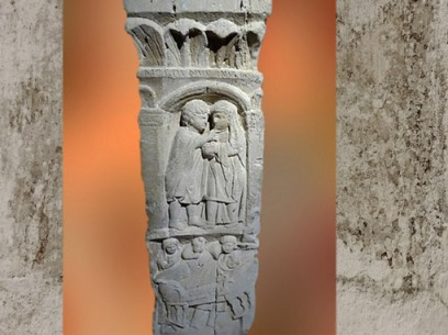 D'après une consultation médicale sur un bas-relief, Gaule Romaine, Montiers-sur-Saulx, Meuse, France. (Marsailly/Blogostelle)