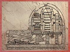 D'après un très grand four, cuisson en série des céramiques, Gaule Romaine. (Marsailly/Blogostelle)