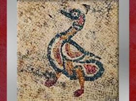 D'après le motif du canard, mosaïque, Ier siècle avjc, Uzès, antique Ucetia, Gard, Gaule Romaine. (Marsailly/Blogostelle)