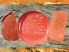 D'après des comptes et une signature de potier sur des céramiques sigillées, Ier-IIe siècles apjc, La Graufresenque, Aveyron, et Barzan, Charente maritime, Gaule Romaine. (Marsailly/Blogostelle)