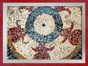 D'après les mosaïques d'Uzès, motifs de bourgeons stylisés, Ier siècle avjc, Gaule Romaine, Gard, France. (Marsailly/Blogostelle)