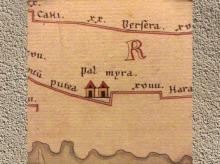 D'après un détail de La Table de Peutinger, manuscrit médiéval de la carte d'Agrippa, actualisée aux IIIe-IVe siècle apjc. (Marsailly/Blogostelle)