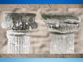 D'après des chapiteaux des IIe siècle et Ier siècle apjc, Poitiers, Gaule Romaine, France. (Marsailly/Blogostelle)