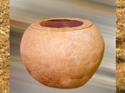 D'après un dolium, style grande jarre italienne en céramique, Gaule Romaine. (Marsailly/Blogostelle)