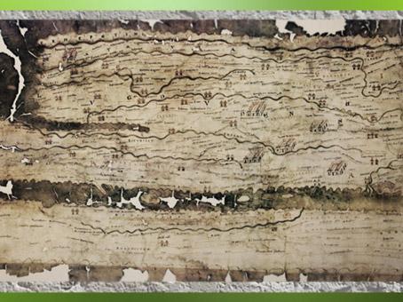 D'après la Table de Peutinger, copie médiévale d'une carte romaine (12-350 apjc), la Gaule. (Marsailly/Blogostelle