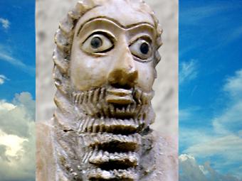D'après un orant, Sumer, sommaire Mésopotamie, histoire de l'Art. (Marsailly/Blogostelle)