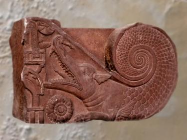 D'après un makara, créature mythique, Bhârhut, IIe siècle avjc,Madhya Pradesh, Nord, Inde ancienne. (Marsailly/Blogostelle)
