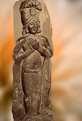 D'après un roi-nâgâ, déité aquatique, Bharhût, Madhya Pradesh, Inde du Nord. (Marsailly/Blogostelle)