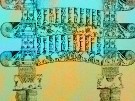 D'après le torana reconstitué de Bhârhut et ses makaras, torana de Bhârhut, IIe siècle avjc, Madhya Pradesh, Inde du Nord. (Marsailly/Blogostelle.)