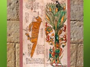 D'après le Loup Fenrir, associé à Odhin, et l'Arbre Yggdrasil, image du XVIIe siècle, Islande. (Marsailly/Blogostelle)