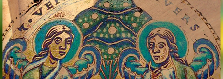 Art mozan médiéval, Arbre de Vie et deux anges. (Marsailly/Blogostelle)