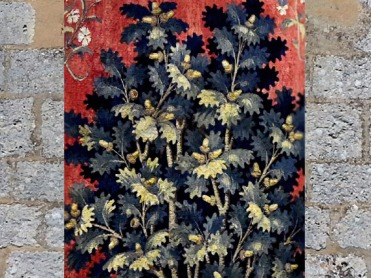D'après le Chêne sacré, La Dame à la Licorne, 1500 apjc, A Mon Seul Désir, détail, art médiéval. (Marsailly/Blogostelle)
