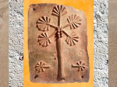 D'après un Arbre à palmes sculpté dans le bois (illustration d'un proverbe), Bénin, art africain. (Marsailly/Blogostelle)