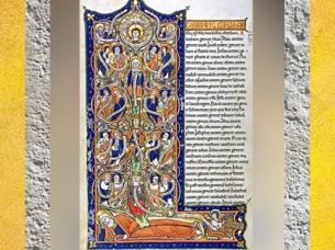 D'après l'Arbre de Jessé, bible des Capucins, XIIe siècle, art médiéval, France. (Marsailly/Blogostelle)