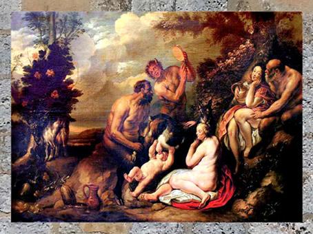 D'après Jupiter nourrit par la chèvre Amalthée, Jacob Jordaens, art flamand, XVIIe siècle. (Marsailly/Blogostelle)