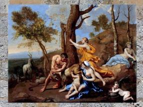D'après La nourriture de Jupiter, Nicolas Poussin, art français, XVIIe siècle. (Marsailly/Blogostelle)