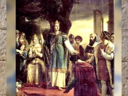 D'après Saint Louis, rend la justice sous le Chêne de Vincenne, Georges Rouget, XIXe siècle. (Marsailly/Blogostelle)