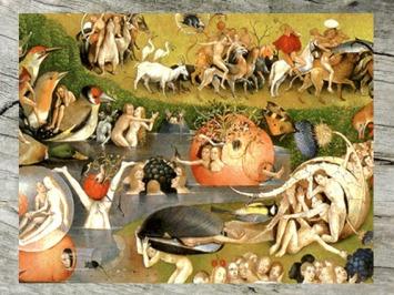 D'après un détail du Jardin des Délices, Jérôme Bosch, XVe-début XVIe siècle, Pays-Bas. (Marsailly/Blogostelle)