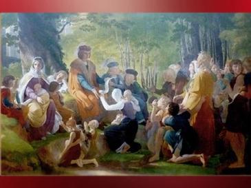 D'après Saint Louis sous le Chêne, rendant la justice, Pierre-Narcisse Guérin, déb XIXe siècle. (Marsailly/Blogostelle)