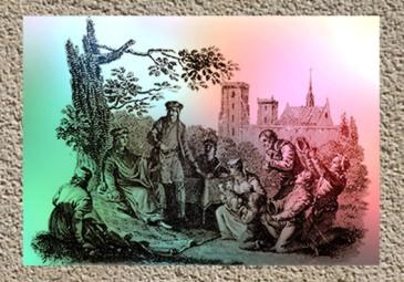 D'après une illustration, Saint Louis rend la justice sous le Chêne de Vincennes. (Marsailly/Blogostelle)