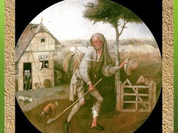 D'après le Vagabond (ou Le Fils perdu), et l'arbre, Jérôme Bosch, XVe-début XVIe siècle, Pays-Bas. (Marsailly/Blogostelle)