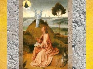 D'après Saint Jean à Patmos, ange et arbre, Jérôme Bosch, XVe-début XVIe siècle, Pays-Bas. (Marsailly/Blogostelle)