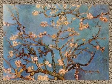 D'après la Branche d'Amandier en Fleurs, Vincent Van Gogh, 1890. (Marsailly/Blogostelle)