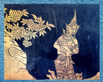 D'après un motif décoratif arboré du temple Wat Pho, Thaïlande. (Marsailly/Blogostelle)