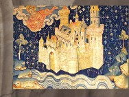 D'après la Jérusalem Céleste avec les Deux Arbres, Tenture de l'Apocalypse, fin XIVe siècle, Angers. (Marsailly/Blogostelle)