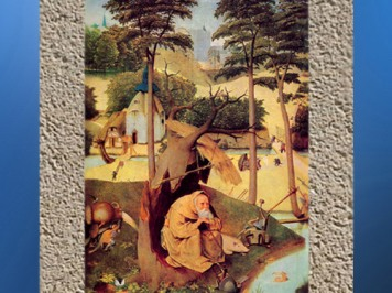 D'après La Tentation de Saint Antoine solitaire, Jerôme Bosch, 1508 apjc. L'arbre matrice. (Marsailly/Blogostelle)