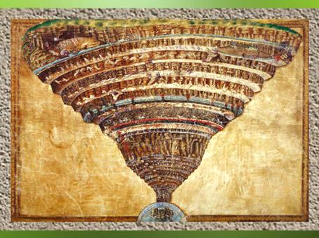D'après L'Enfer, la Divine comédie de Dante, Sandro Botticelli, fin XVe siècle. (Marsailly/Blogostelle)
