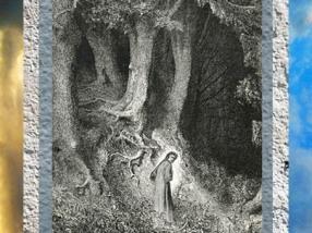 D'après Dante dans les bois, Divine Comédie, Gustave Doré, XIXe siècle.(Marsailly/Blogostelle)