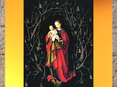 D'après La Madone à l'Arbre Sec, Petrus Christus, peintre flamand, XVe siècle. (Marsailly/Blogostelle)