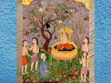 D'après l'Arbre Waq Waq qui parle, inspiré de Qazvini (XIIIe siècle), manuscrit safavide, XVIe siècle, Iran ancien. (Marsailly/Blogostelle)
