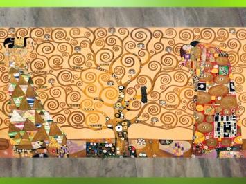 D'après l'Arbre de Vie,Entre Attente et Accomplissement, Gustav Klimt, 1905-1909, fresque, Palais Stoclet, Bruxelles. (Marsailly/Blogostelle)