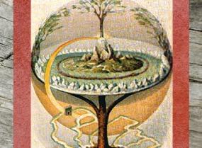 D'après Yggdrasil, par Oluf Bagge, graveur danois, XIXe siècle. (Marsailly/Blogostelle)