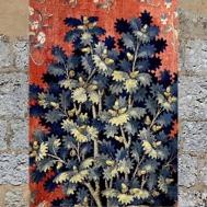 D'après le Chêne, détails de la tapisserie médiévale La Dame à la Licorne, À Mon Seul Désir,vers 1500 apjc, France. (Marsailly/Blogostelle)