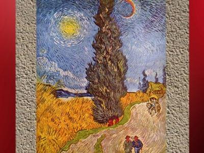 D'après Le Cyprès, Vincent Van Gogh, 1890, XIXe siècle. (Marsailly/Blogostelle)