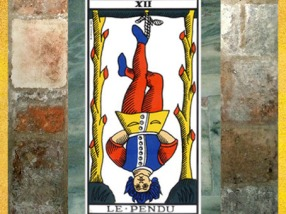 D'après Le Pendu, lame XII du Tarot de Marseille. (Marsailly/Blogostelle)
