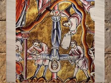 D'après le manuscrit latin le Psautier de Paris Eadwine, la Croix du Christ Inversée, XIIe siècle. (Marsailly/Blogostelle)
