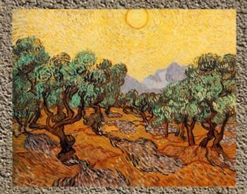 D'après Les Oliviers, Vincent Van Gogh, 1889. (Marsailly/Blogostelle)