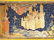 D'après la Jérusalem Céleste et deux Arbres, Tenture de l'Apocalypse, fin XIVe siècle, Angers, France. (Marsailly/Blogostelle)