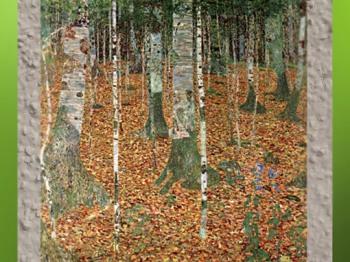 D'après le Bois de Bouleaux de Gustav Klimt, 1903, Vienne, Autriche (Marsailly/Blogostelle)