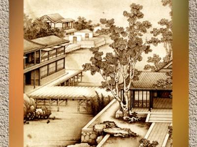 D'après Arbre et paysage, Jiao Bingzhen, dynastie Qing, fin XVIIe - début XVIIIe siècle. (Marsailly/Blogostelle)
