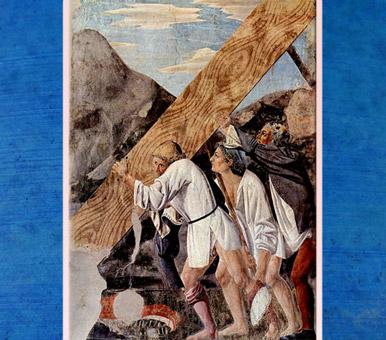 D'après L'Enlèvement du Bois Saint, La légende de la Vraie Croix, de Piero della Francesca, fresques 1452-1466, basilique San Francesco d'Arezzo, Renaissance italienne. (Marsailly/Blogostelle)