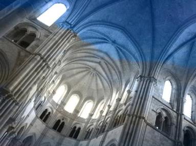 D'après l'élévation et le choeur gothique de La Madeleine de Vézelay, 1120-1140 apjc, Bourgogne. (Marsailly/Blogostelle)