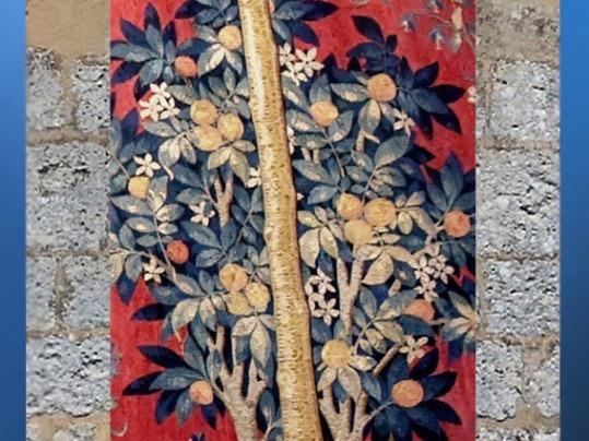 D'après l'Oranger, La Dame à la Licorne, vers 1500 apjc, détail A Mon Seul Désir, art médiéval. (Marsailly/Blogostelle)