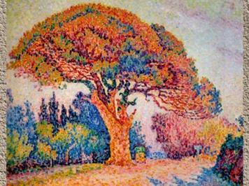 D'après Le Pin, Paul Signac, Saint-Tropez, 1909, France.(Marsailly/Blogostelle)